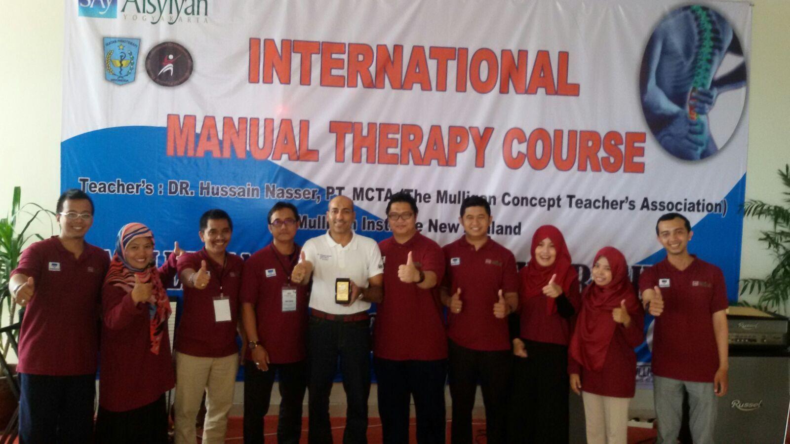 Penutupan Workshop Internasional, Manual Therapy Course Mulligan
